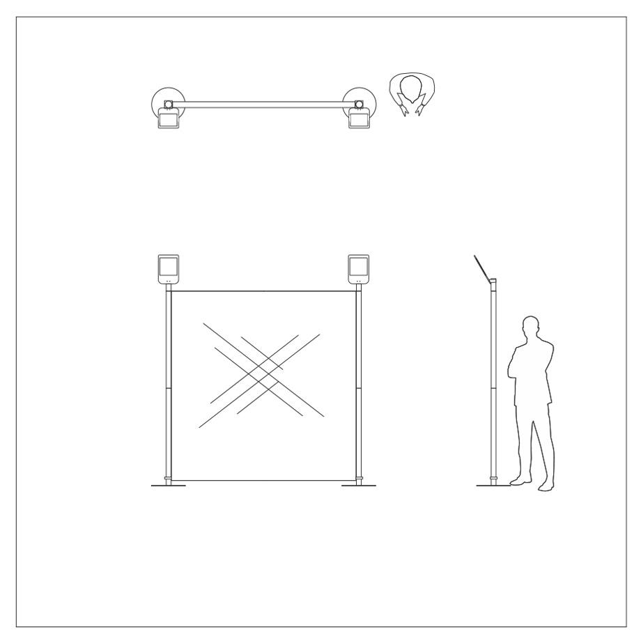 dessin photocalls stand