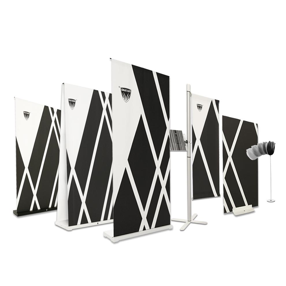 gamme d'affichage portable enroulable